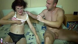 Young amateur Girl and old Granny have fun in bathroom