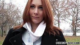 Redhead girl Alice March gets her ass banged for some cash