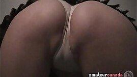 Schoolgirl upskirt geek cameltoes white panties masturbates