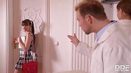 Kinky Doctor Nurse Tina Kay DP Teen patient Luna Rival