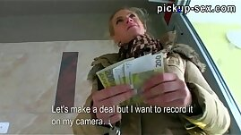 Superb amateur teen blonde babe Adele sucks off and fucked for money