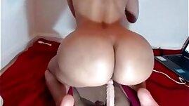 Huge ass riding dildo