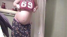 pregnant teen bathroom selfie